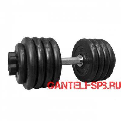 Гантель обрезиненная 51.5 кг. MB Barbell серия PRO D51