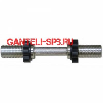 Гриф для гантели хромированный, 390 мм. Модель: MB-BarM50-M390B