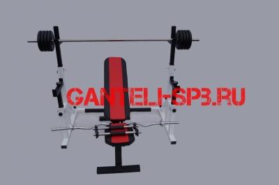 Комплект 90 кг со скамьей и стойкой со страховкой(вариант 1)