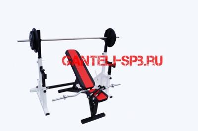Комплект 70 кг со скамьей и стойкой со страховкой(вариант 1)