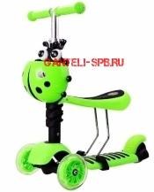 Самокат Scooter 3 в 1 Зеленый