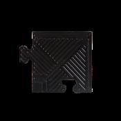 Уголок для резинового бордюра,черный,толщина 12 мм. MB-MatB-Cor12