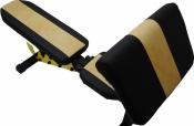 Универсальная атлетическая скамья Orion Sportlim (Черно-желтая) + Парта Скотта