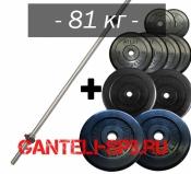 Штанга 81 кг наборная MB barbell, d25 мм