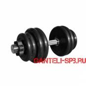Гантель обрезиненная 36.5 кг. MB Barbell серия PRO D51