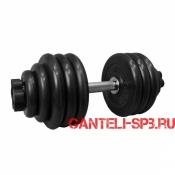Гантель обрезиненная 44 кг. MB Barbell серия PRO D51