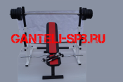 Комплект 100 кг со скамьей и стойкой со страховкой(вариант 2)