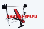 Комплект 80 кг со скамьей и стойкой со страховкой(вариант 1)