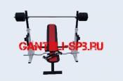 Комплект 80 кг со скамьей и стойкой со страховкой(вариант 3)