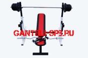 Комплект 80 кг со скамьей и стойкой со страховкой(вариант 4)