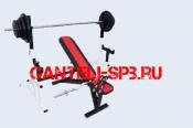 Комплект 90 кг со скамьей и стойкой со страховкой(вариант 4)