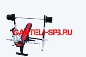 Комплект 90 кг со скамьей и стойкой со страховкой(вариант 5)