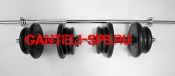 Комплект штанга прямая + 2 гантели вес 50кг(арт1)