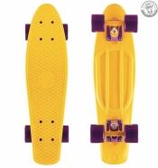 Крузер  27 желтый - колеса фиолетовые